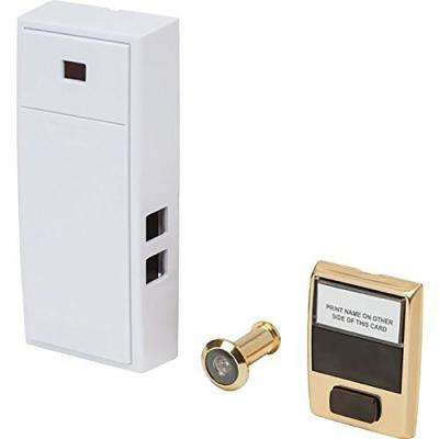 2-Note Mechanical Door Bell with Door Button and Separate Door Viewer Peephole