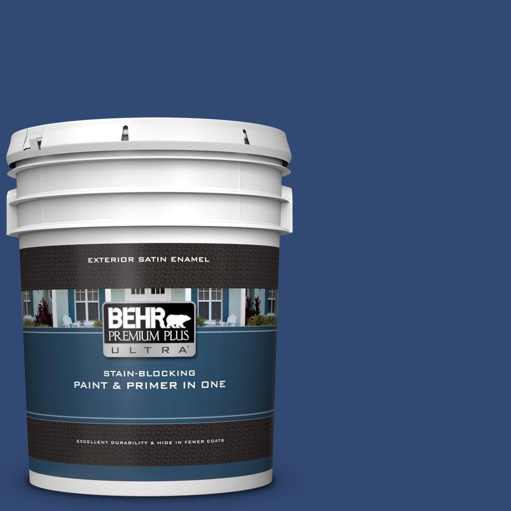 Behr Premium Plus Ultra 5 Gal S H 580 Navy Blue Satin Enamel Exterior