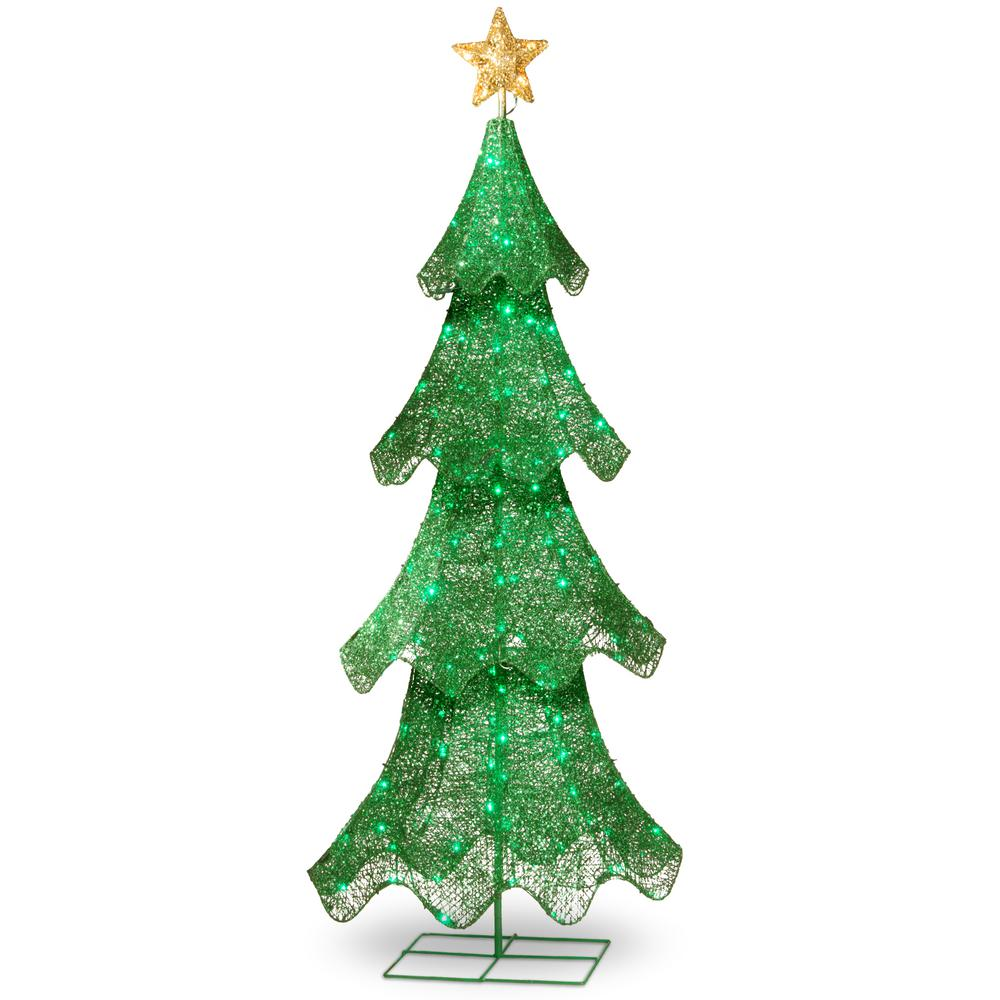 National Tree Company 60 in. Christmas Tree with LED Lights-DF ...