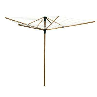 Large Outdoor Bamboo Rotary Clothesline