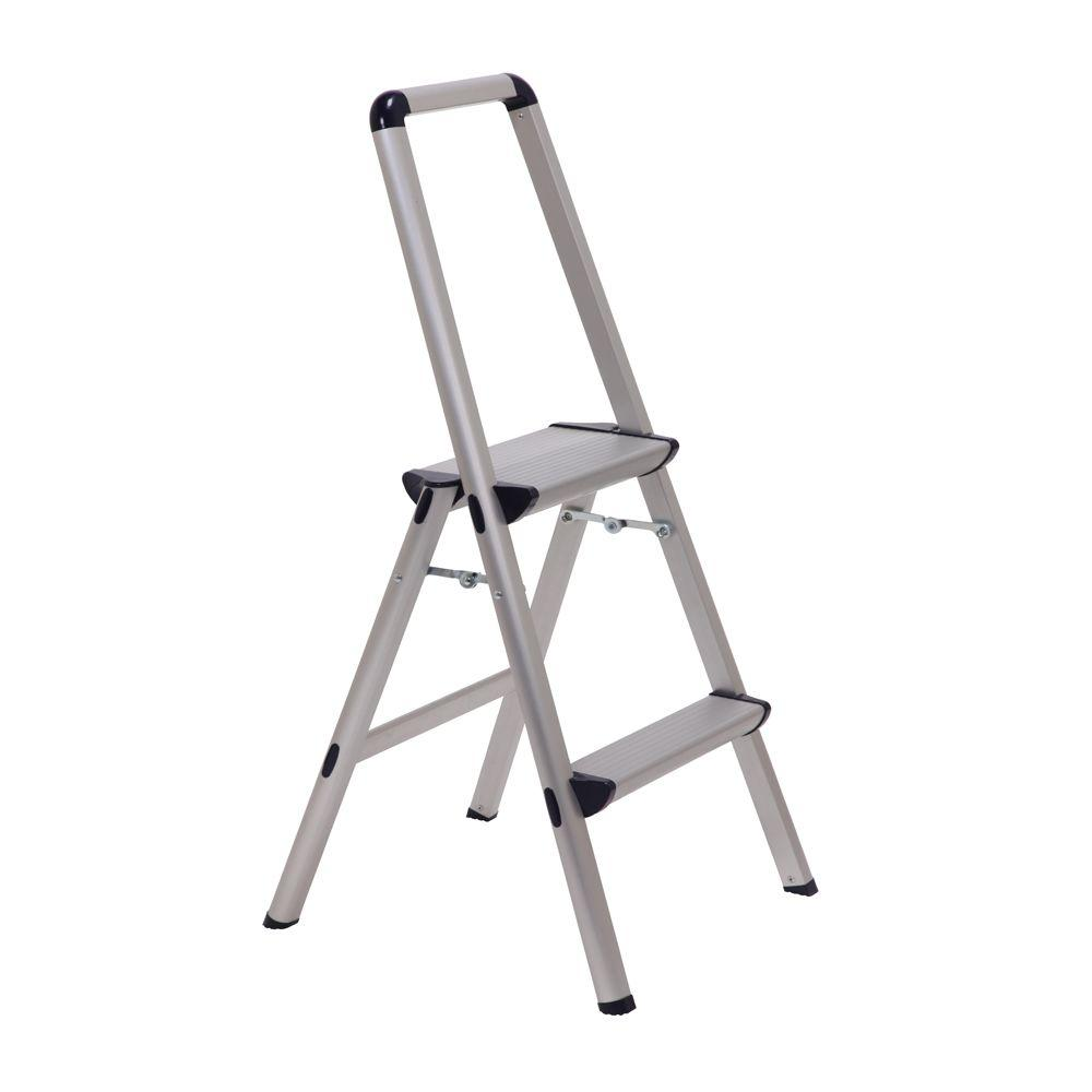 Xtend u0026 Climb Ultra 2-Step Light Weight Aluminum Stool Folding Step Stool with Handle  sc 1 st  The Home Depot & Xtend u0026 Climb Ultra 2-Step Light Weight Aluminum Stool Folding ... islam-shia.org