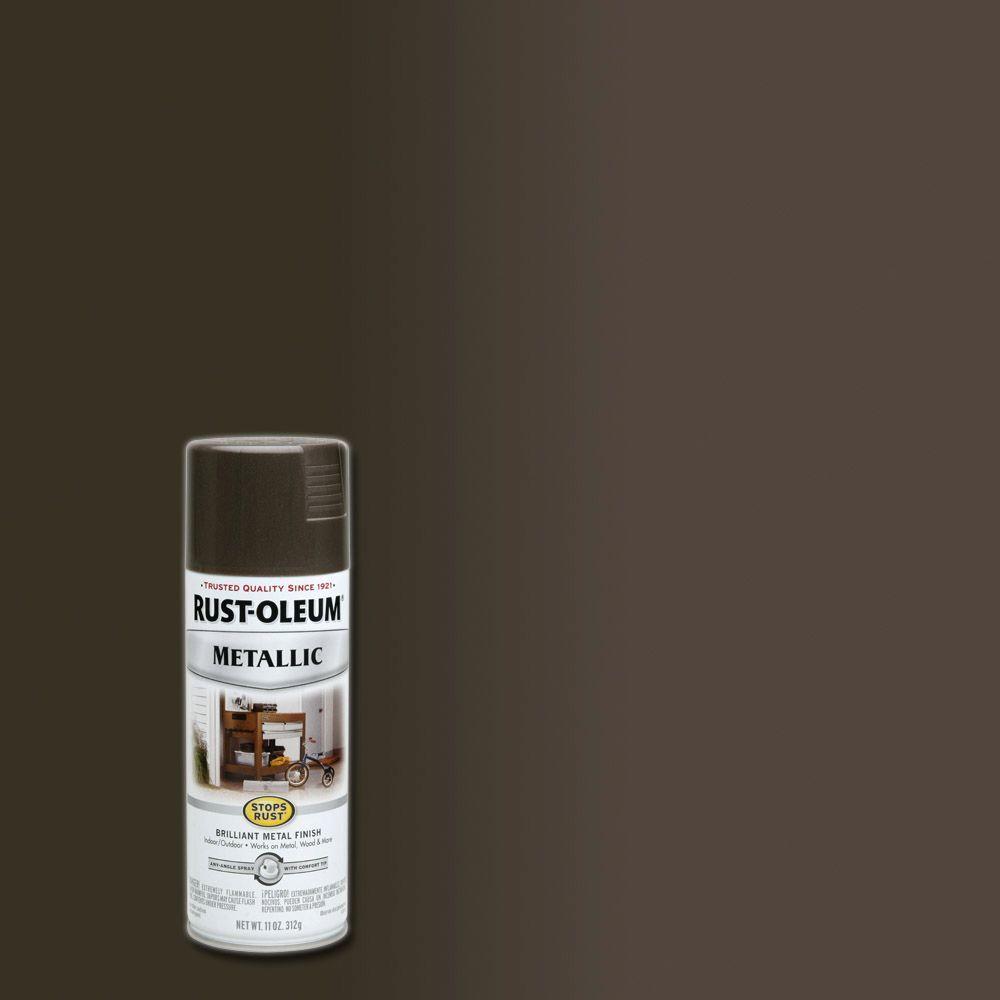 11 oz. Metallic Dark Bronze Protective Spray Paint (6-Pack)