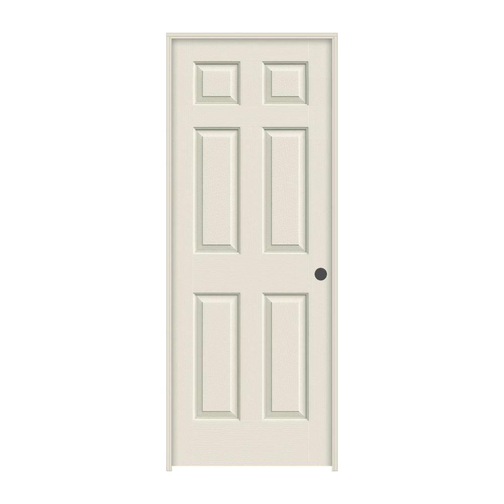 32 in. x 80 in. Colonist Primed Left-Hand Textured Molded Composite