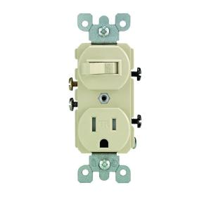 ivory leviton outlets receptacles r51 t5225 0is 64_300 leviton decora 15 amp tamper resistant combination switch outlet combination switch and outlet wiring diagram at creativeand.co