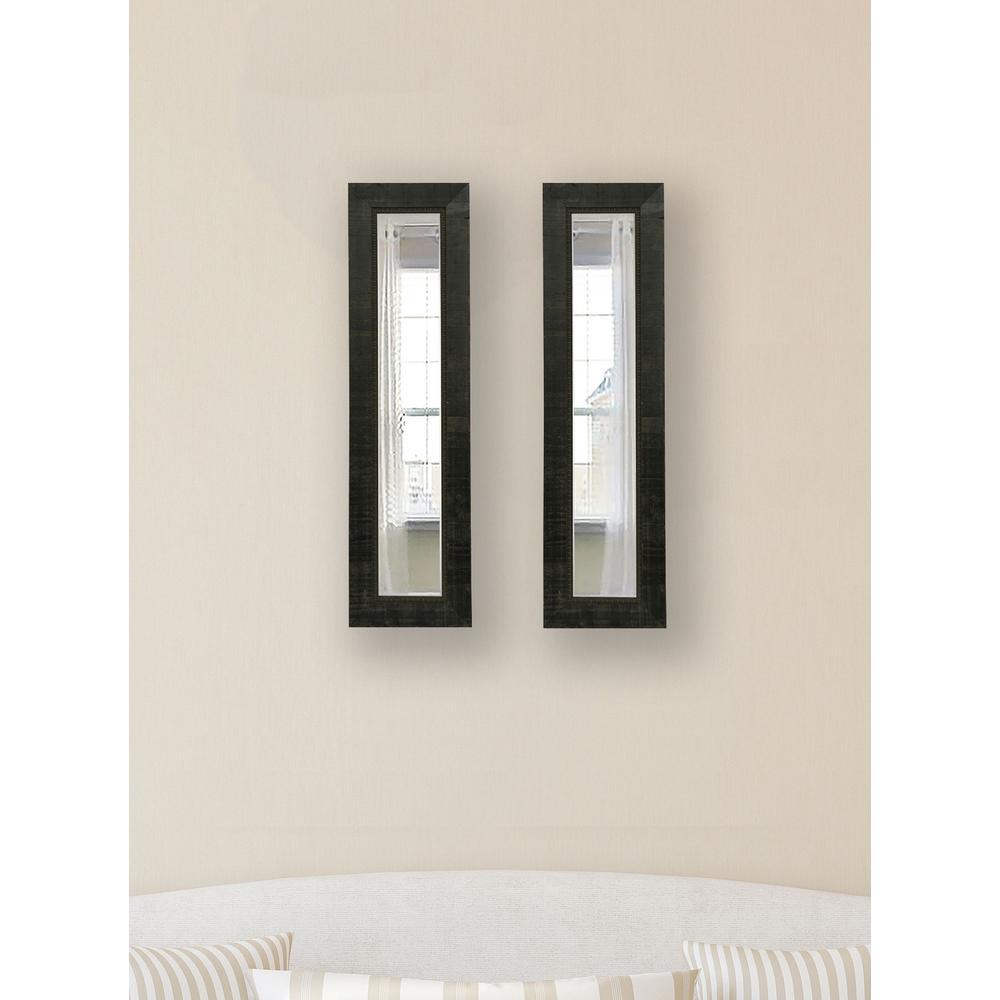 10.5 inch x 38.5 inch Tuscan Ebony Vanity Mirror (Set of 2-Panels) by