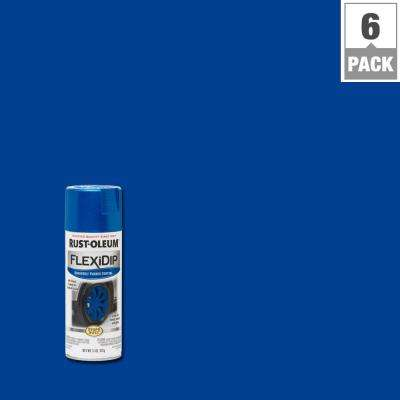 11 oz. Matte Cobalt Blue Removable Rubber Coating Spray (6-Pack)