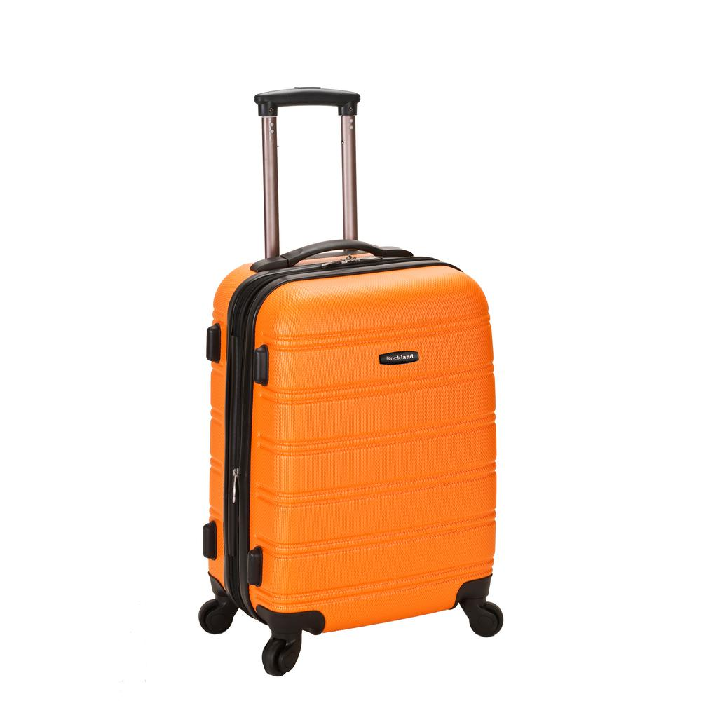 Melbourne 20 in. Expandable Carry on Hardside Spinner Luggage, Orange