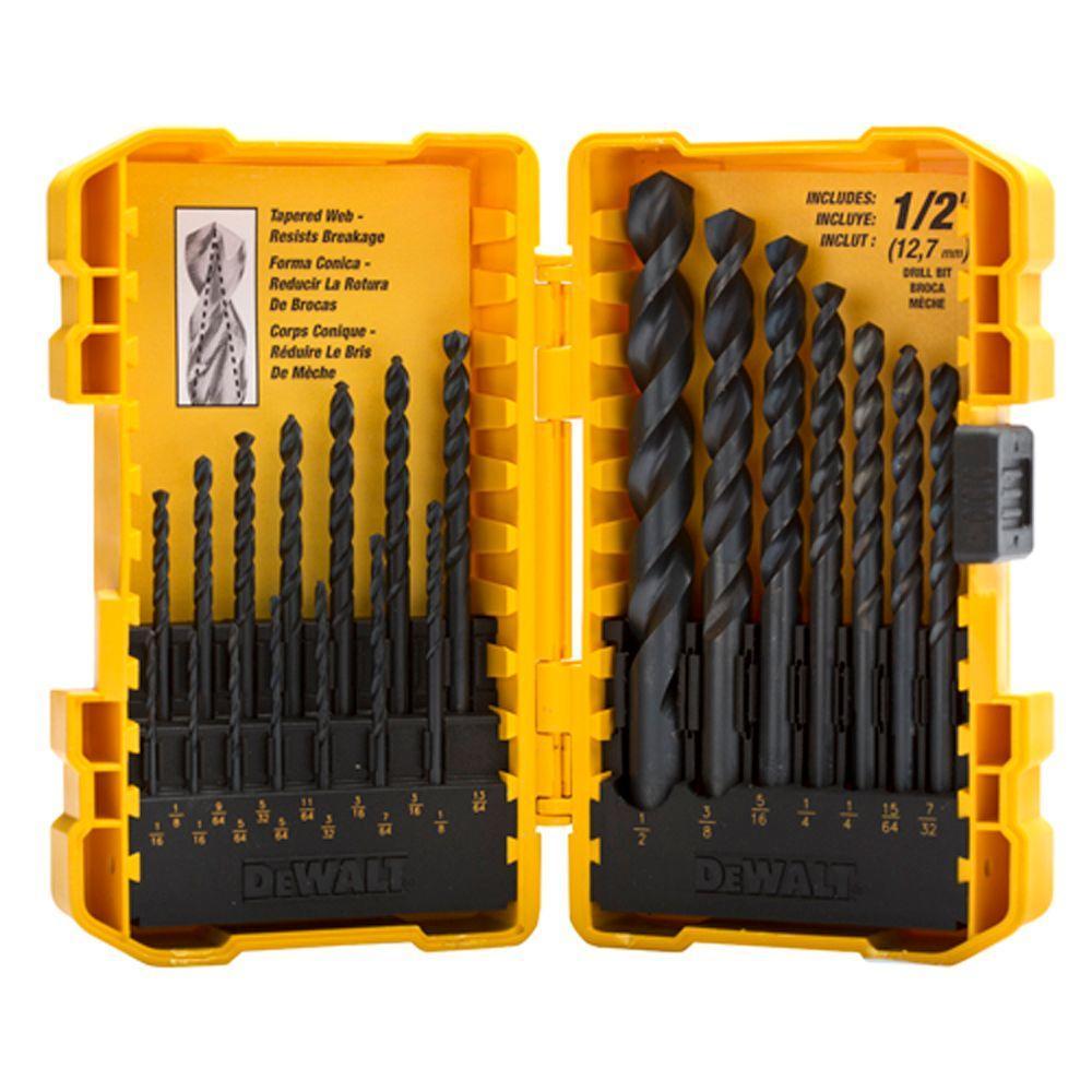 DEWALT Black Oxide Drilling Set (18-Piece)-DWA1178HP - The Home Depot