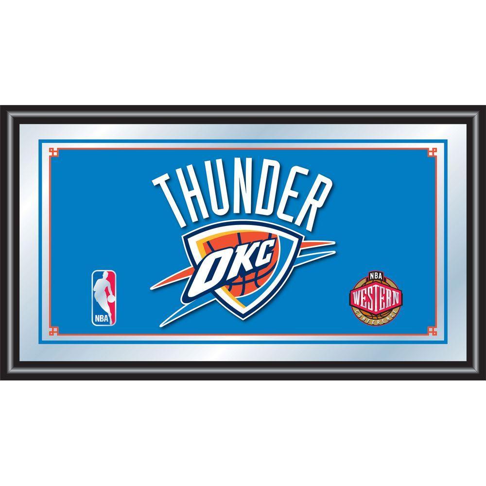 Oklahoma City Thunder NBA 15 in. x 26 in. Black Wood