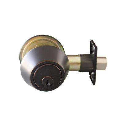 Double Cylinder Oil Rubbed Bronze Deadbolt