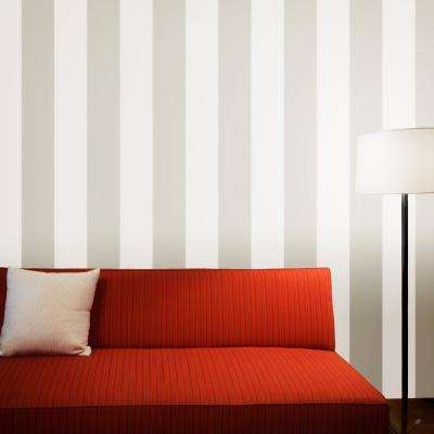 Stripe Taupe Self-Adhesive Removable Wallpaper