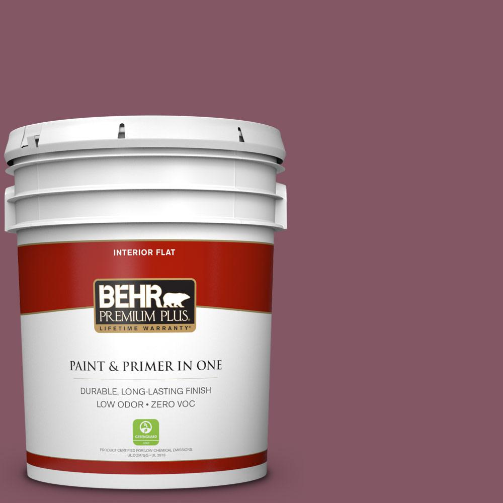 5 gal. #100D-6 Rose Garland Zero VOC Flat Interior Paint