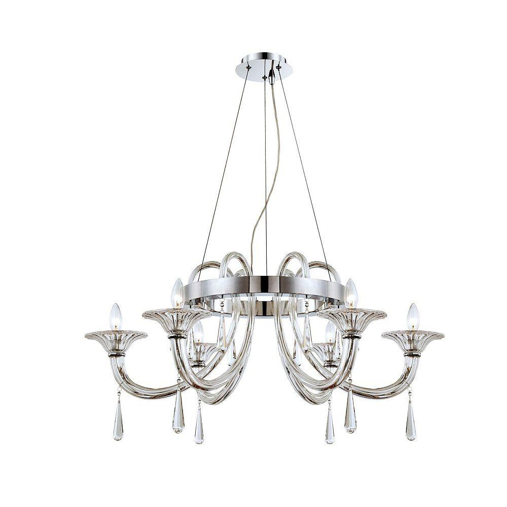 null Shiraz Collection 6-Light Chrome Chandelier