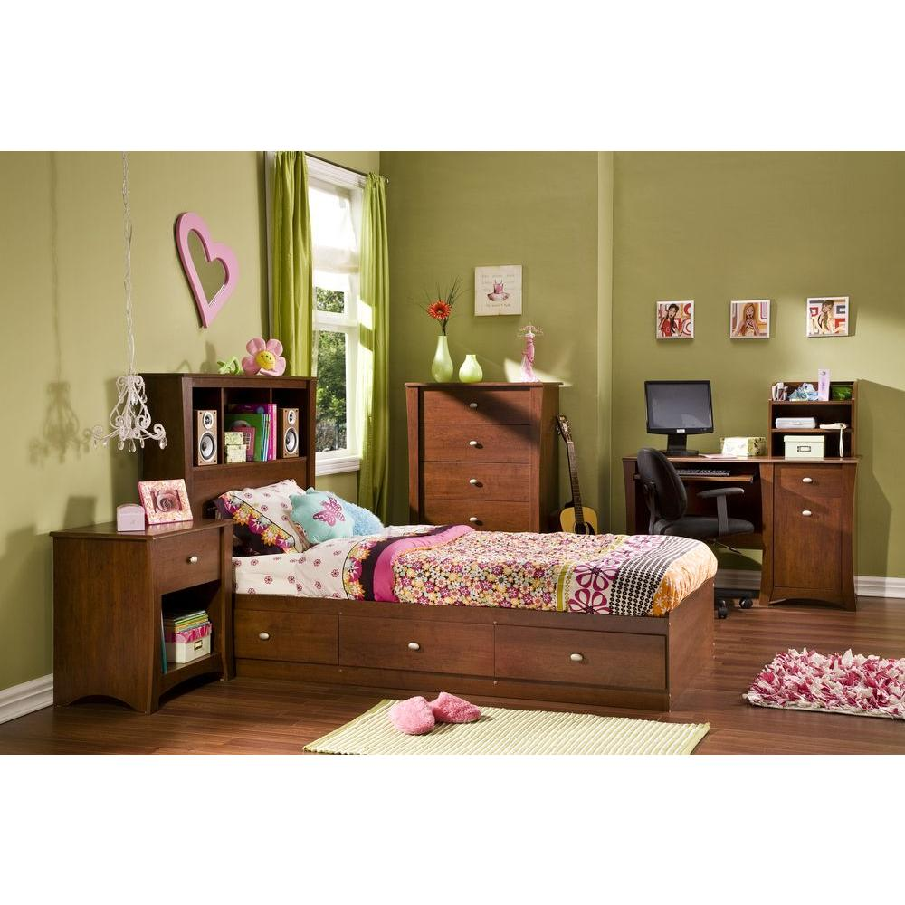 South Shore Jumper 1-Drawer Classic Cherry Nightstand