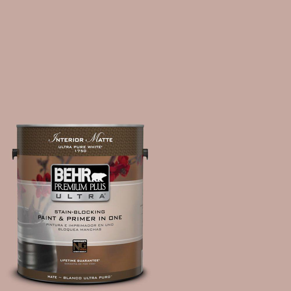 BEHR Premium Plus Ultra Home Decorators Collection 1 gal. #HDC-NT-06 Patchwork Pink Flat/Matte Interior Paint