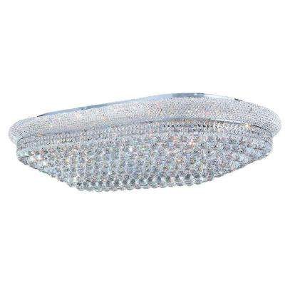 Empire Collection 28-Light Chrome and Crystal Ceiling Light