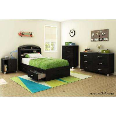 Lazer Black Onyx Nightstand