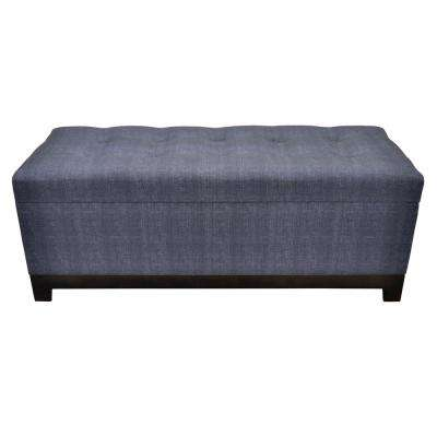 18.25 in. Gray Storage Bench