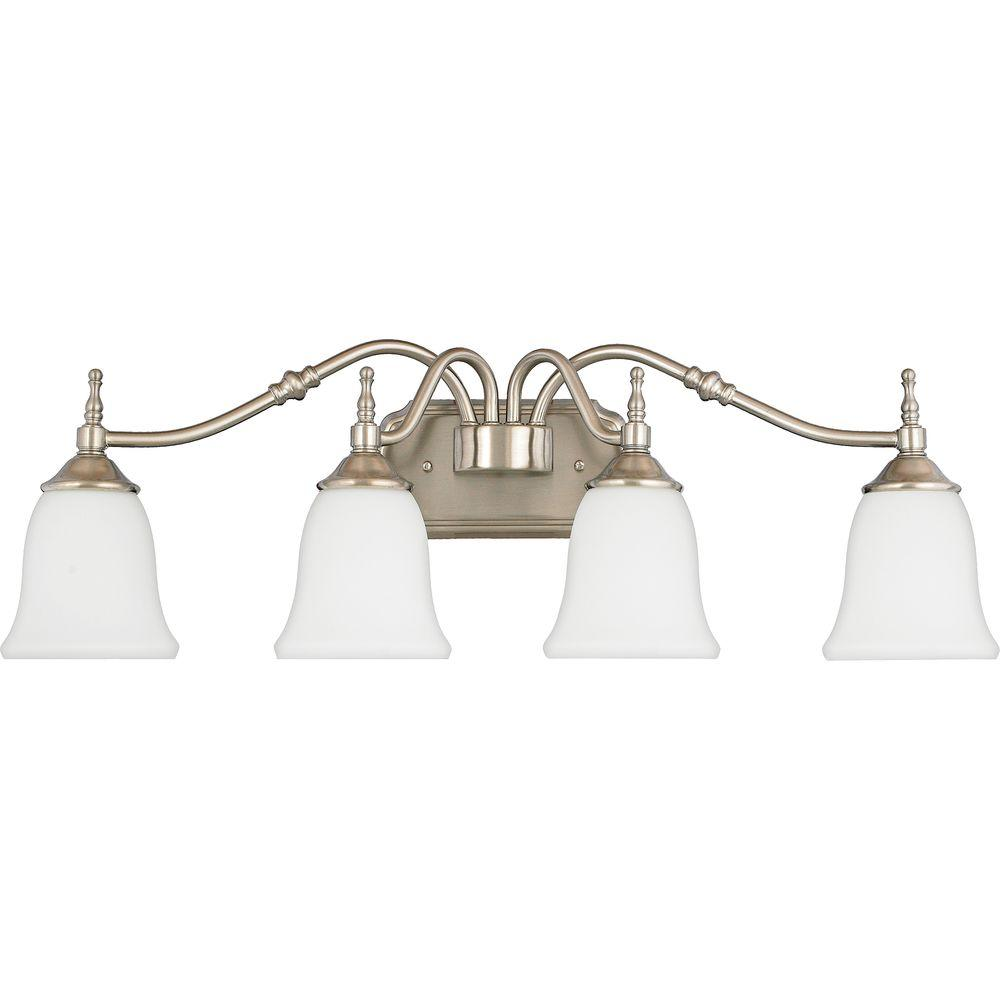 Home Decorators Collection Tritan 4-Light Brushed Nickel Bath Light