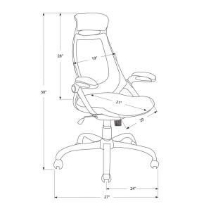 Internet 300621503 Monarch Specialties Black High Back Executive Office Chair