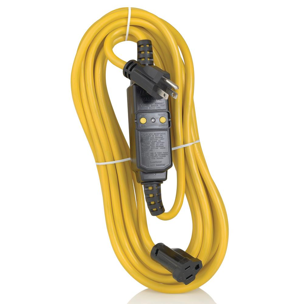 15 Amp Straight Blade Portable GFCI with 25 ft. Cord Set