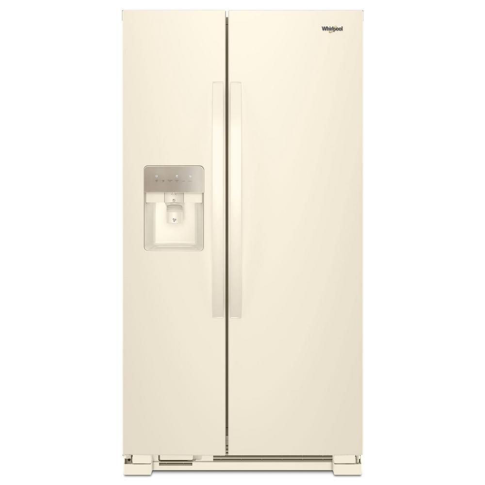 Whirlpool 33 in. 21.4 cu. ft. Side by Side Refrigerator in Biscuit