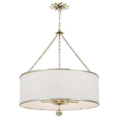 Broche 8-Light Antique Silver Chandelier