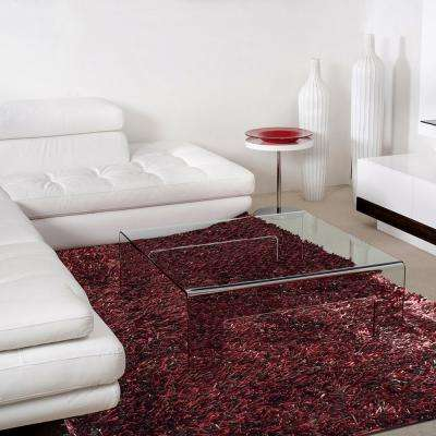 Ribbon Shag Spice 8 ft. x 10 ft. Area Rug