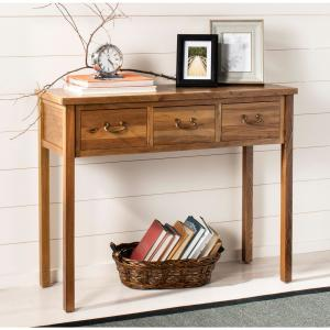 Superb Safavieh Cindy Oak Storage Console Table Amh6568G The Home Gmtry Best Dining Table And Chair Ideas Images Gmtryco