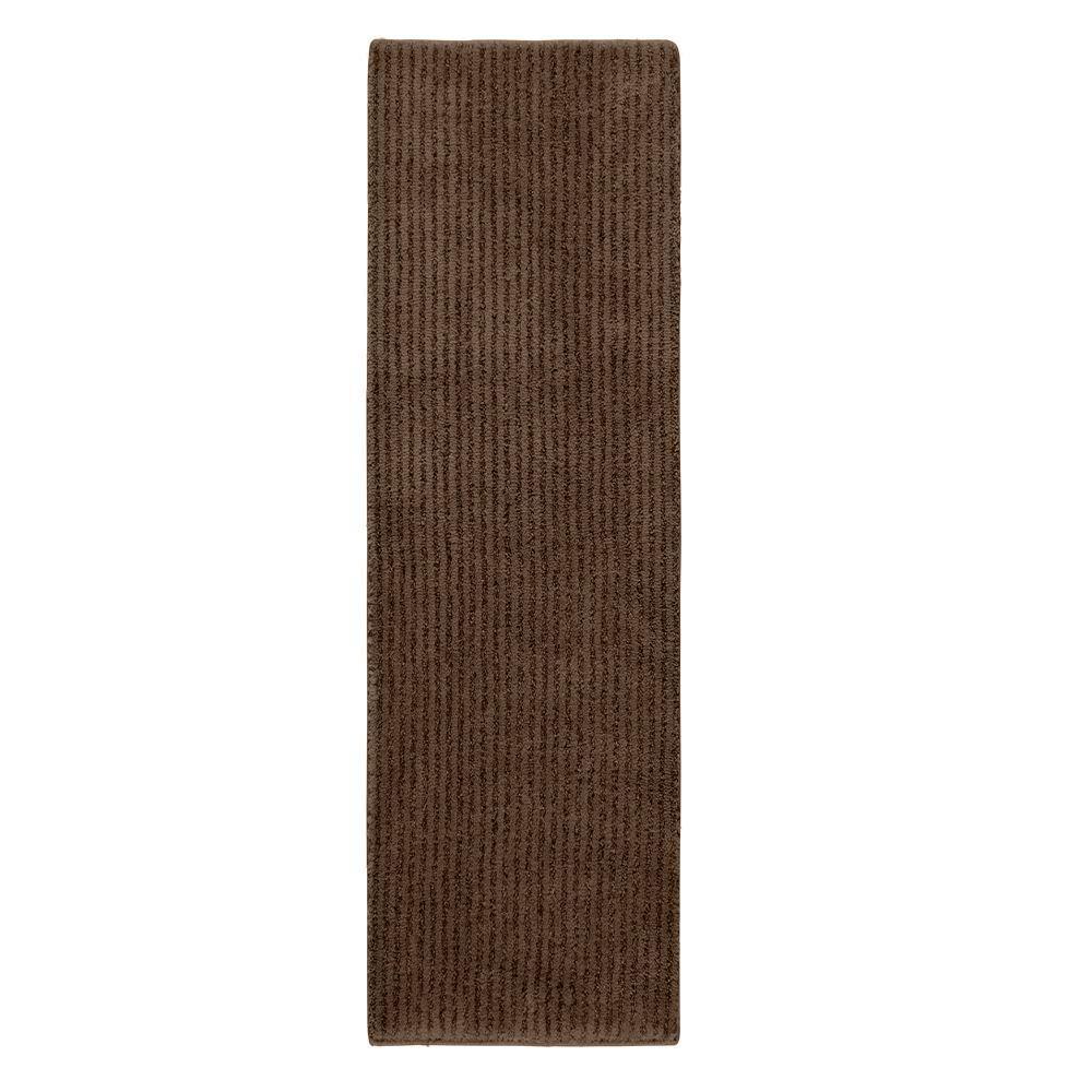 Sheridan Chocolate 22 in. x 60 in. Washable Bathroom Accent Rug