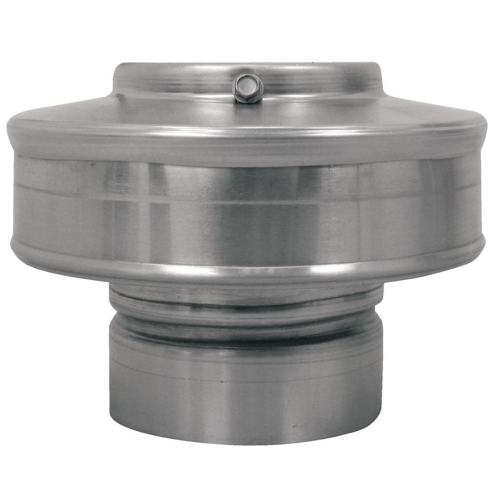 3 in. Dia Aluminum Vent Pipe Cap in Mill Finish