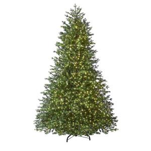 7.5 ft Elegant Grand Fir LED Pre-Lit Artificial Christmas Tree with Timer with 2000 Warm White Lights