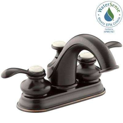 Fairfax 4 in. Centerset 2-Handle Mid-Arc Water-Saving Bathroom Faucet in Oil-Rubbed Bronze