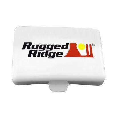 Rectangular Off-Road Light Cover in White