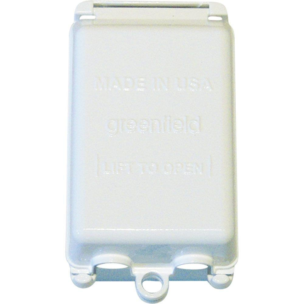 Greenfield While In Use Weatherproof Electrical Box Cover Vertical White