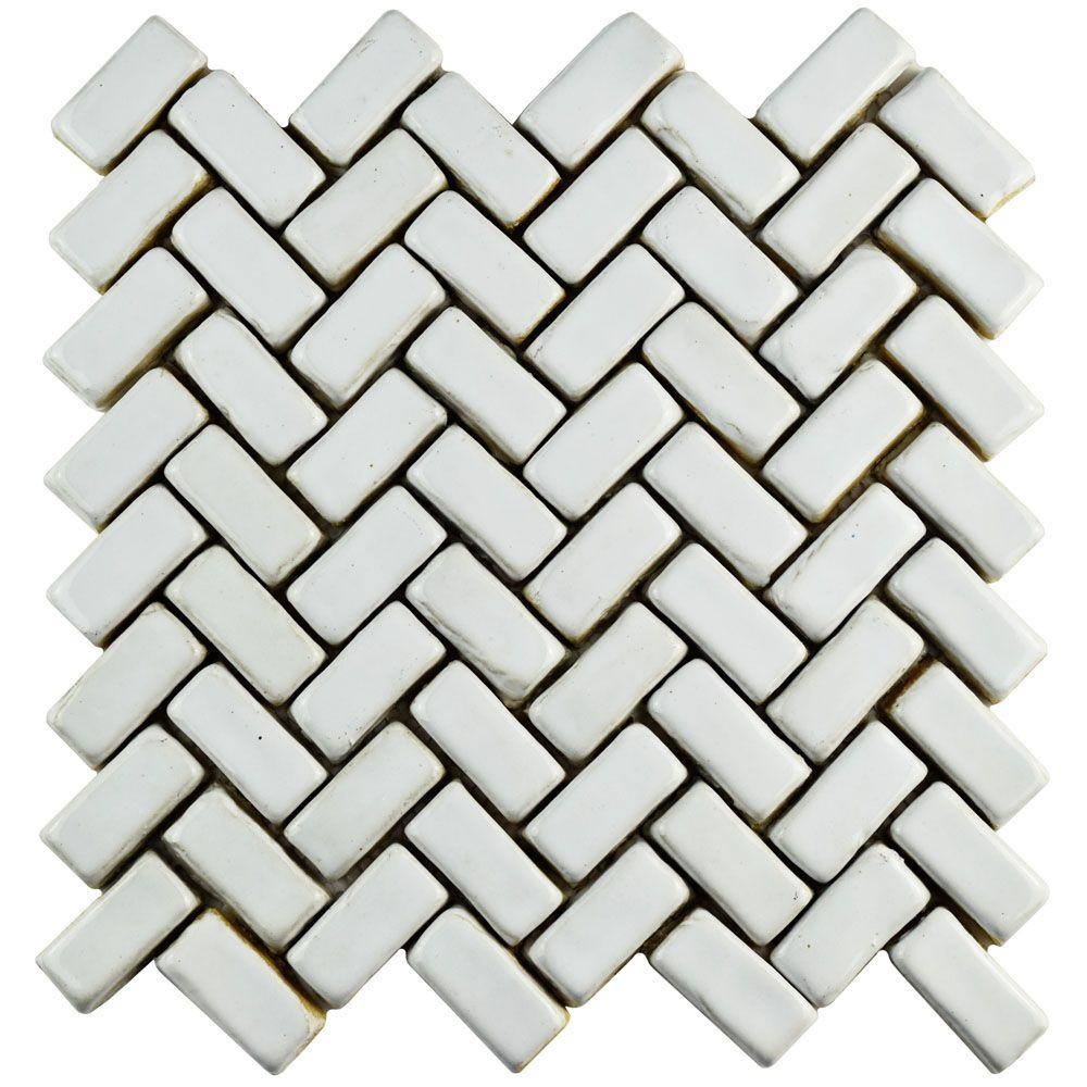 Merola tile cobble herringbone white 11 in x 11 12 in x 13 mm merola tile cobble herringbone white 11 in x 11 12 in dailygadgetfo Choice Image