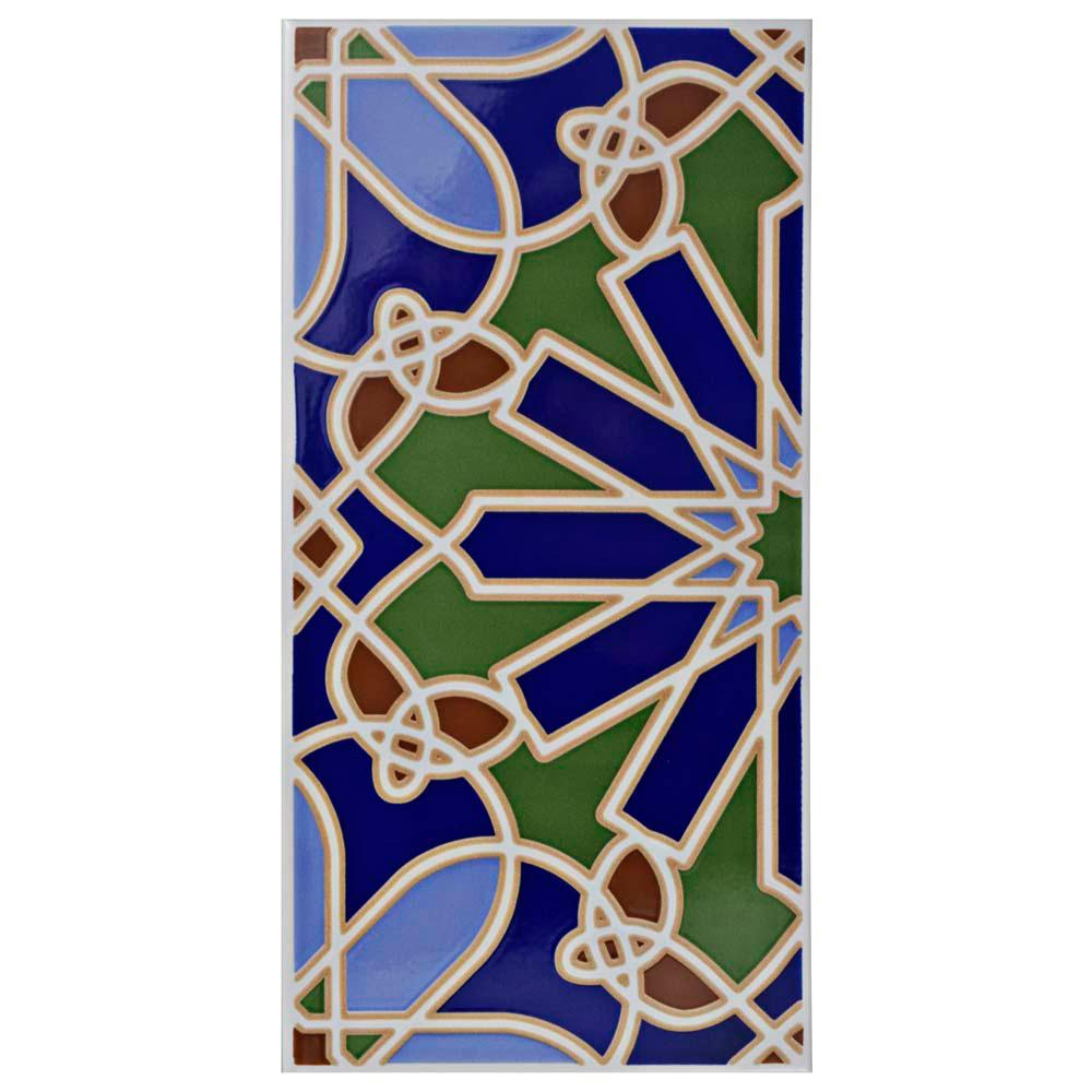 Artesanal Alhambra 5-1/2 in. x 11 in. Ceramic Wall Tile (11.23