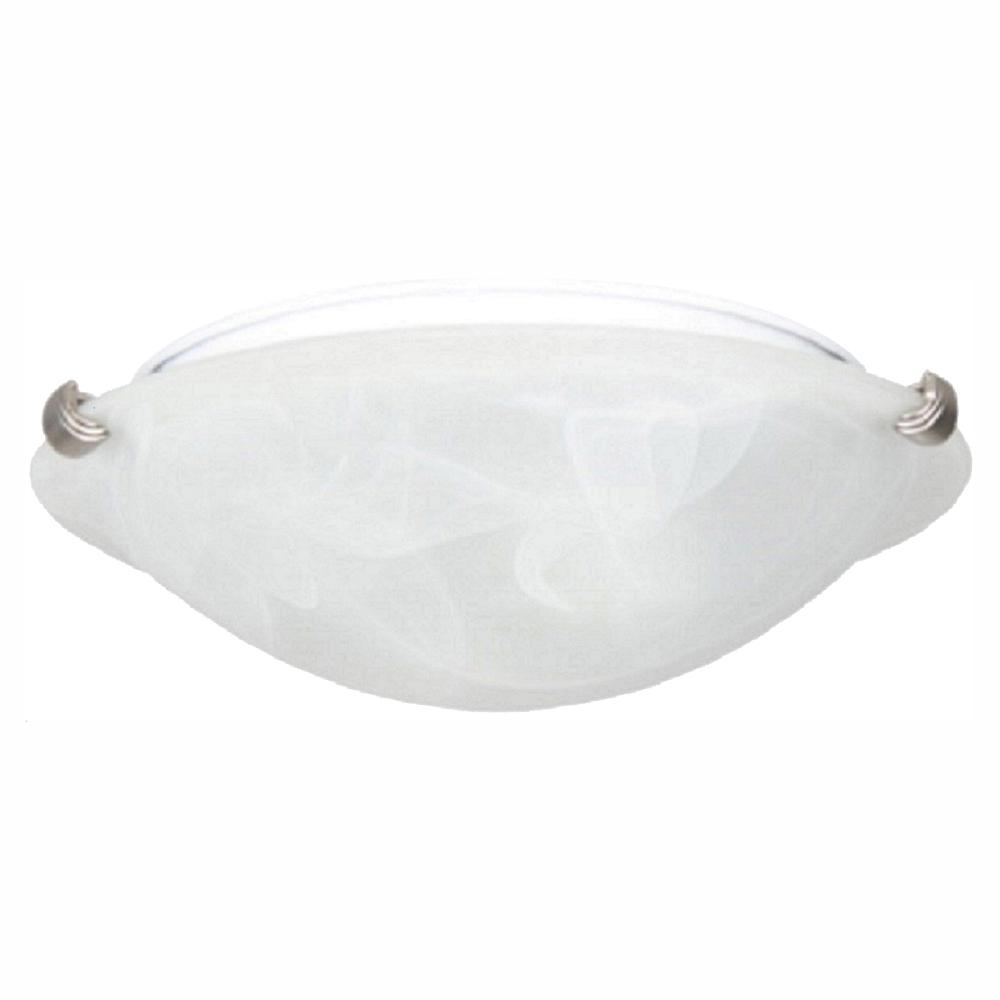 Home Decorators Collection 12 in. Pewter LED Clip Flush Mount