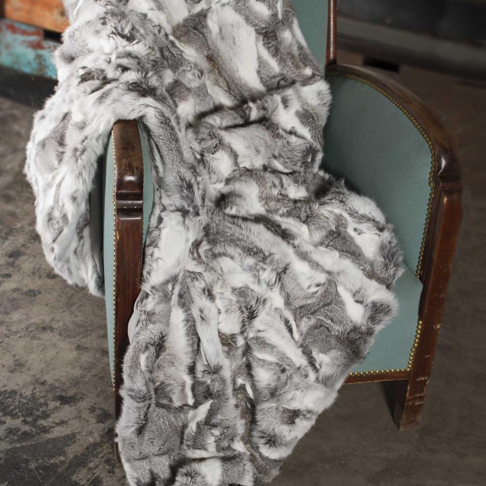 Josephine Grey Modern Wool Throw Blanket