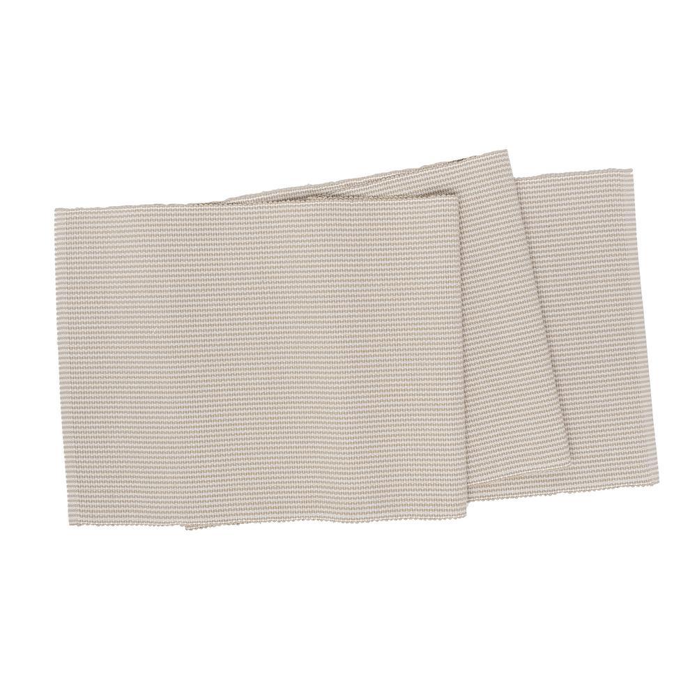 Port Stripe 13 in. x 72 in. Beige / Cream Striped Cotton Table Runner