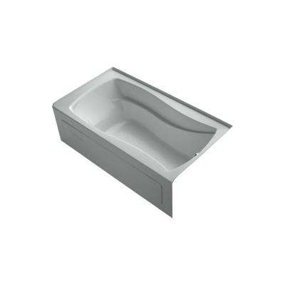 Mariposa 5.5 ft. Right Drain Bathtub in Ice Grey