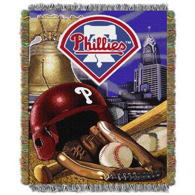 Phillies Multi Color Home Field Advantage Tapestry Throw