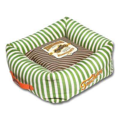 Medium Brown and Spearmint Green Bed