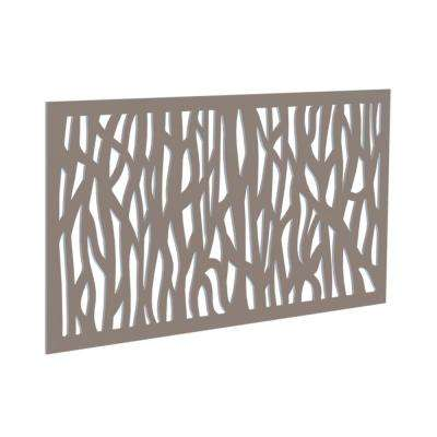 0.3 in. x 4 ft. x 2 ft. Greige Sprig Polymer Decorative Screen Panel