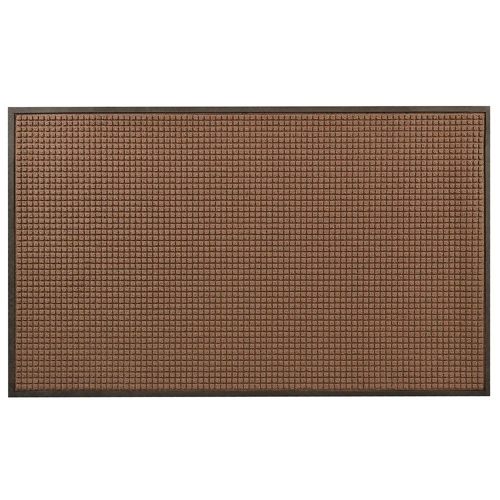 HomeTrax Designs Guzzler Brown 36 in. x 48 in. Rubber-Backed Entrance Mat