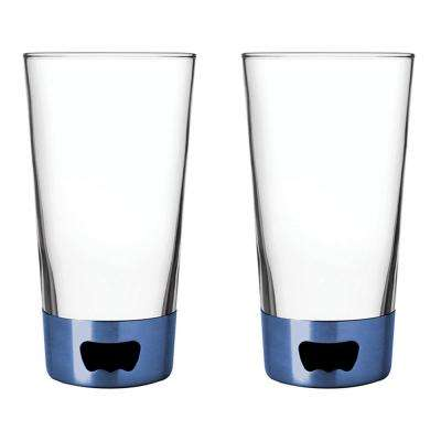 16 oz. Pint Glass Opener in Blue (2-Pack)