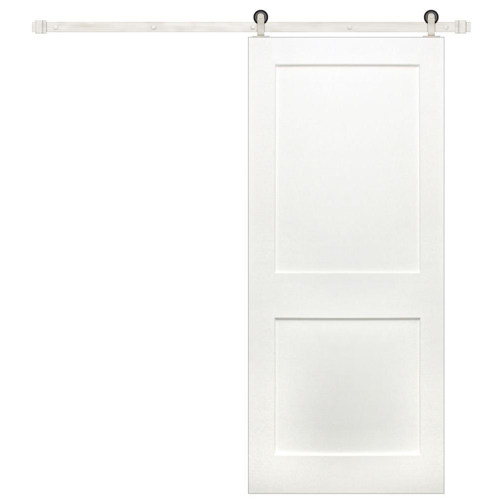 Pacific Entries 36 In. X 84 In. Shaker 2-Panel Primed Pine