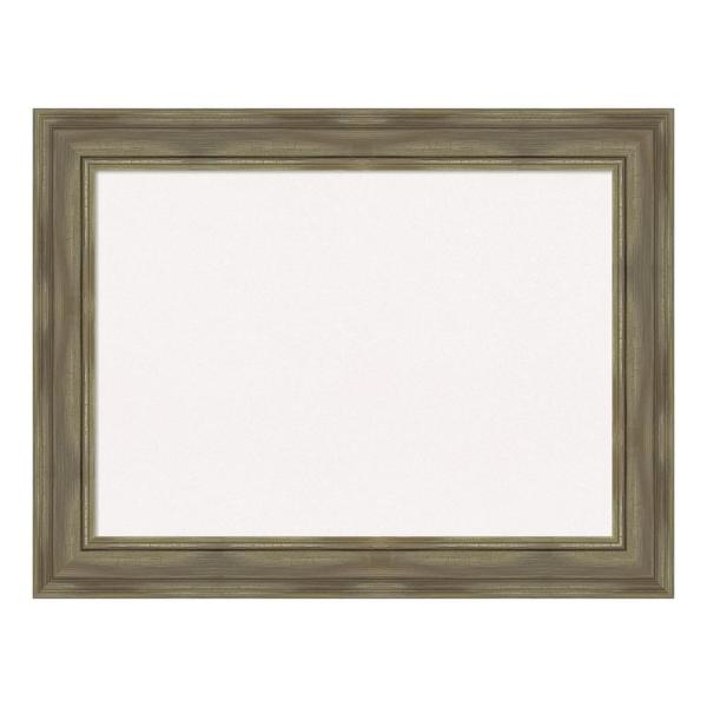 Amanti Art Alexandria Greywash Framed White Cork Memo Board DSW4094441