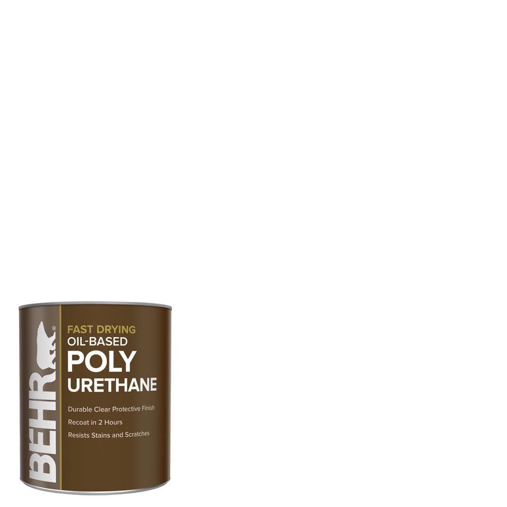 BEHR BEHR 1 qt. Gloss Clear Oil-Based Interior Fast Drying Polyurethane