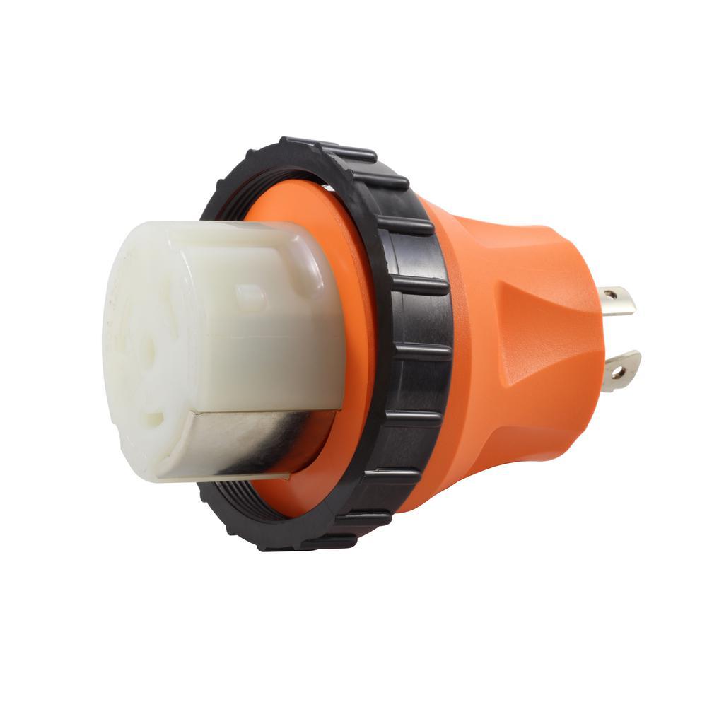 AC Connectors Adapter NEMA L14-20P 4-Prong 20 Amp Generator Locking Plug to RV/Marine 50 Amp Inlet